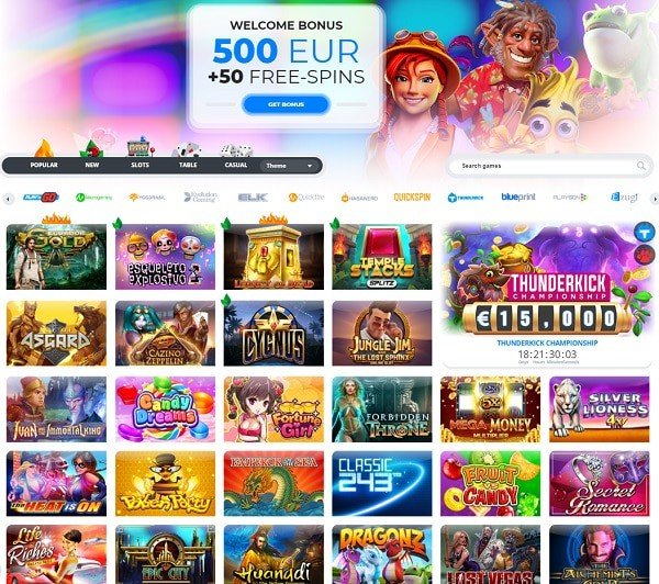 Ego Casino 20 free spins on registration