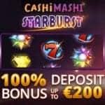 Cashi Mashi Casino 100% bonus + €200 gratis + 100 free spins