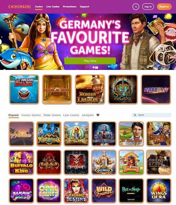 The best slots and table games under one umbrella!