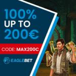 Eagle Bet Casino 20 free spins & 10€ free bet no deposit bonus