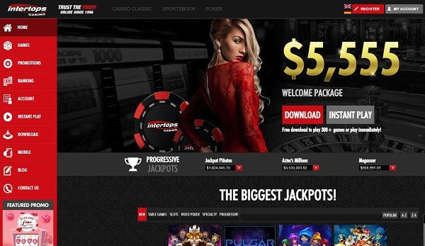 Intertops Casino, Sports, Poker - free chips, free spins, promotions, bonus codes, no deposit required