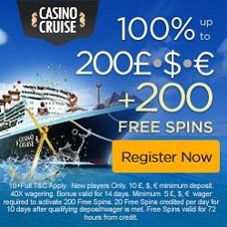 100% bonus and 200 free spins!