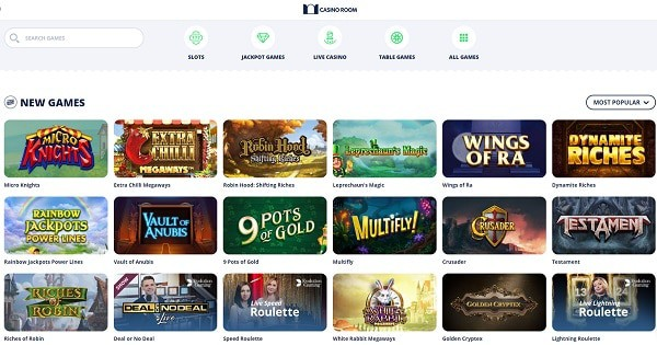 Casino Room games and software