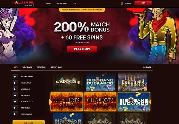 200% bonus and 60 free spins on slots
