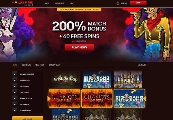 200% bonus and 60 free spins on slots