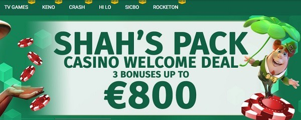 Shah's Welcome Bonus