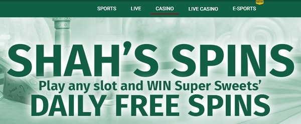 Shah's Free Spins