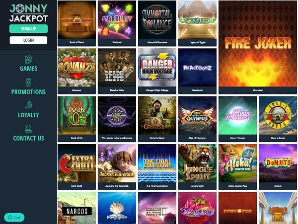 Jonny Jackpot Casino Online Review