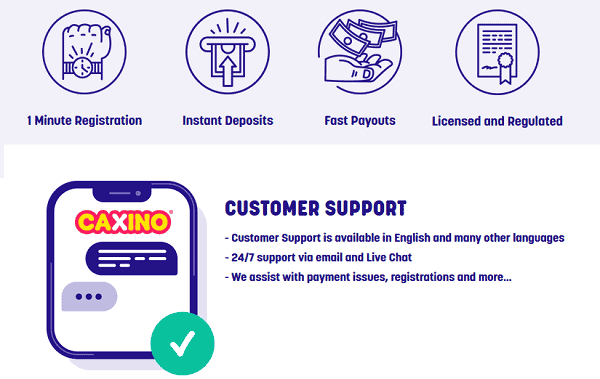 Fast deposit, cashout, support