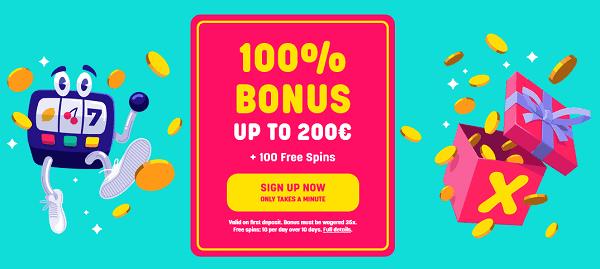 Deposit 1 get 100 free spins