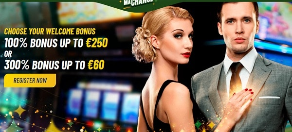 100% welcome bonus and 20 free spins on slots