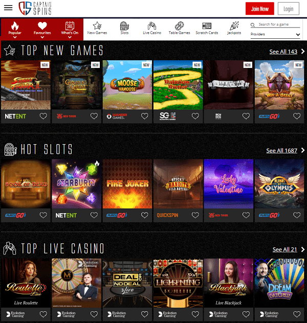 Register now and play to win big jackpots!
