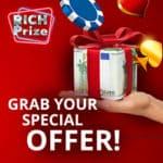 Rich Prize Casino €5 no deposit + 100% bonus + 25 free spins