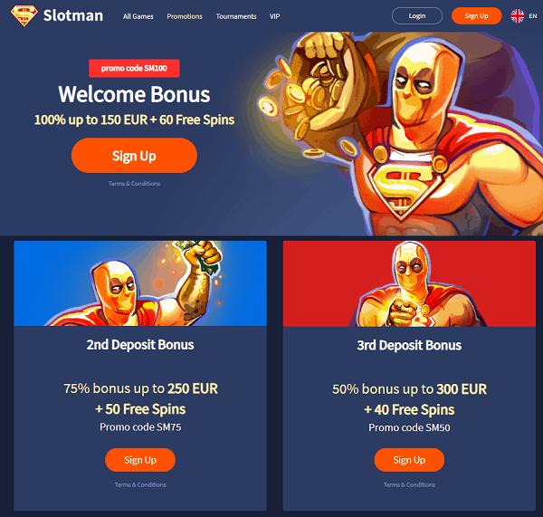 Slotman.com Free Spins Bonus