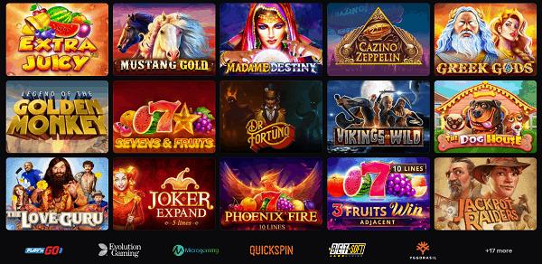 Casinomia.com Casino Games Overview