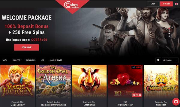 Cobra Casino Review & Bonus