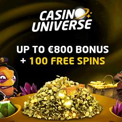 Casino Universe welcome bonus