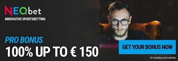 100% up to 150€ bonus