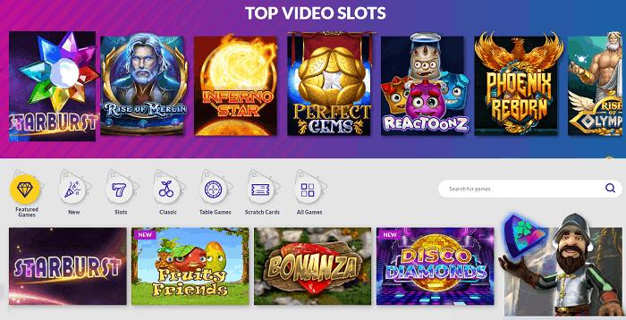 Top Video Slots, Classic Slots, Live Dealer and Jackpots!