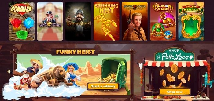 Funny Heist and Pollo Loco Shop