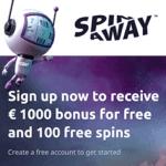 SpinAway Casino 100 gratis spins and €/$1,000 free bonus