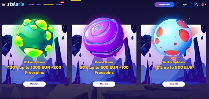 100% bonus up to 1000 EUR and 200 Free Spins