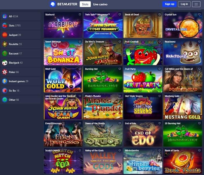 Start winning real money at Betmaster Casino