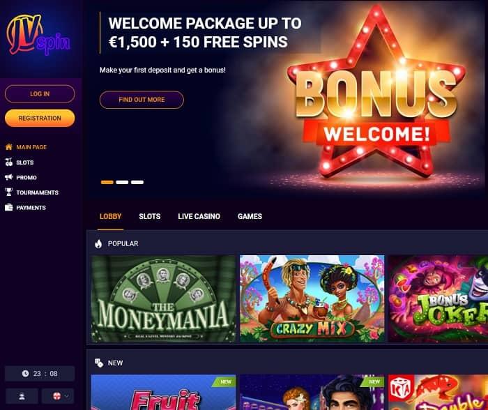 JV Spin free bonus code