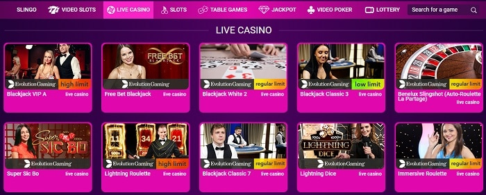Live Card Games and Table Games