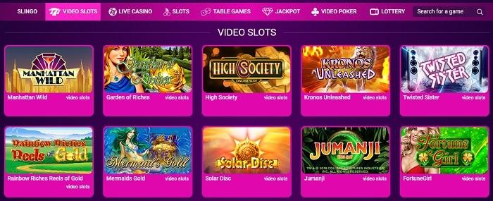 No Bonus Video Slots