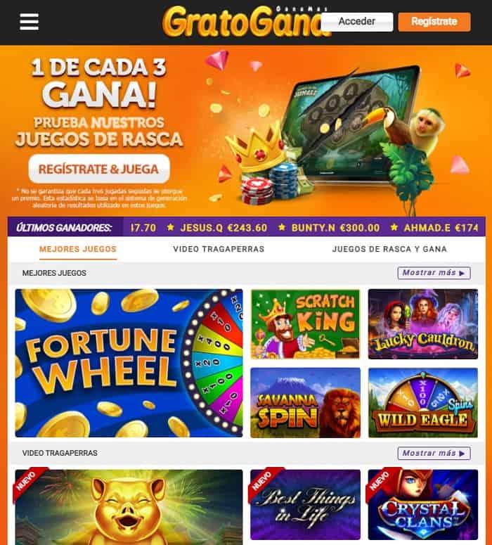 GratoGana Casino Free Spins Bonus