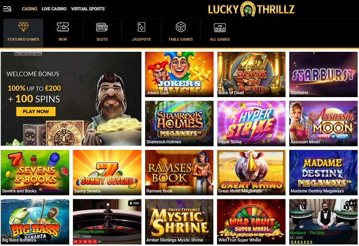 Lucky Thrill Casino Review