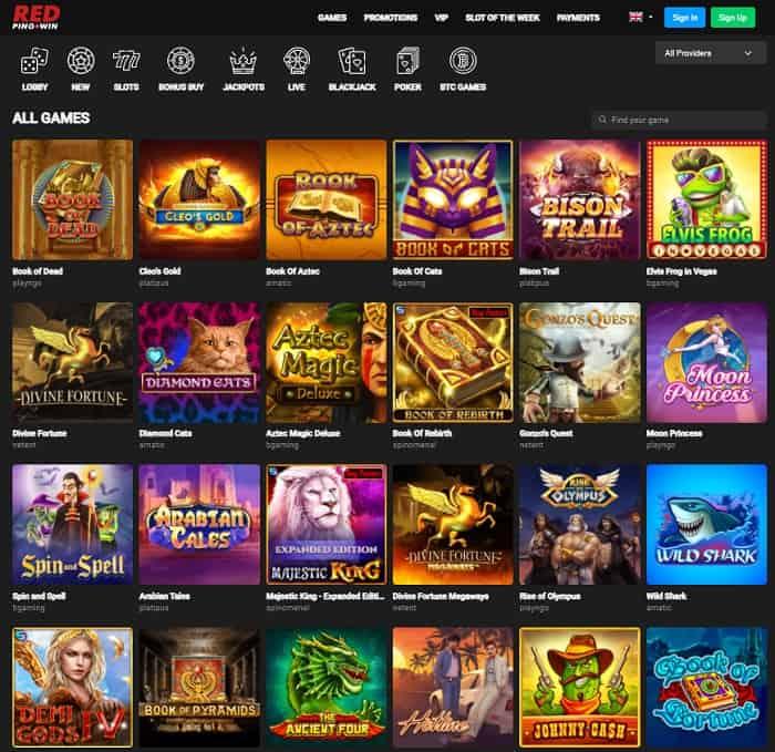 RedPingWin Casino free bonus
