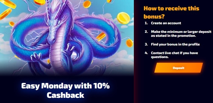 Monday Cashback 10%