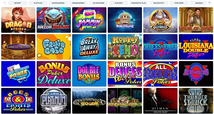 Top slot games for free