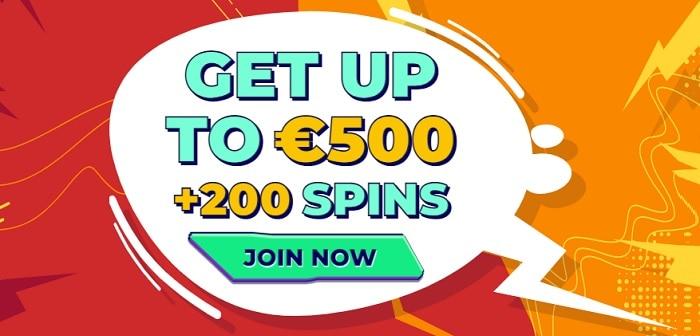 100% bonus and free spins
