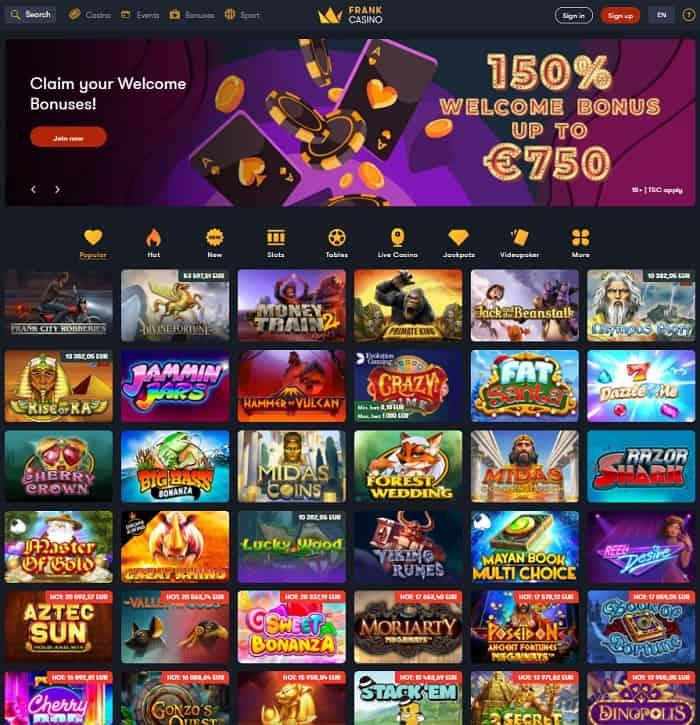 Frank Gaming Website
