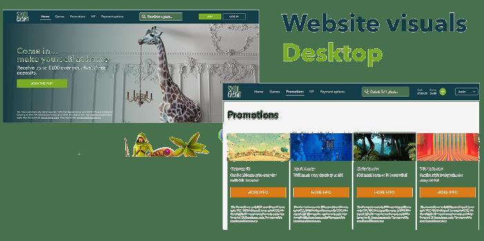 Skol Website and Desktop Features