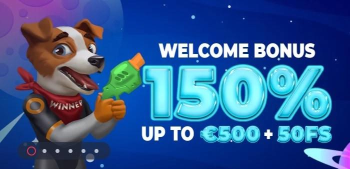 150% welcome bonus