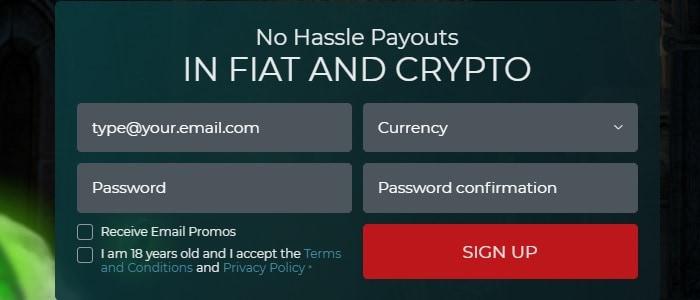 Fiat and Crypto Casino