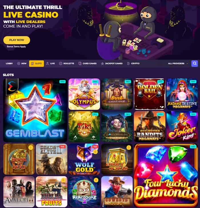 Live Games and Slots