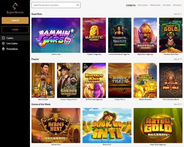 Casino Games and Live Dealer