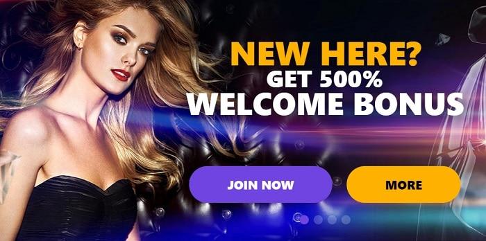 New Player? Get 500% Welcome Bonus!