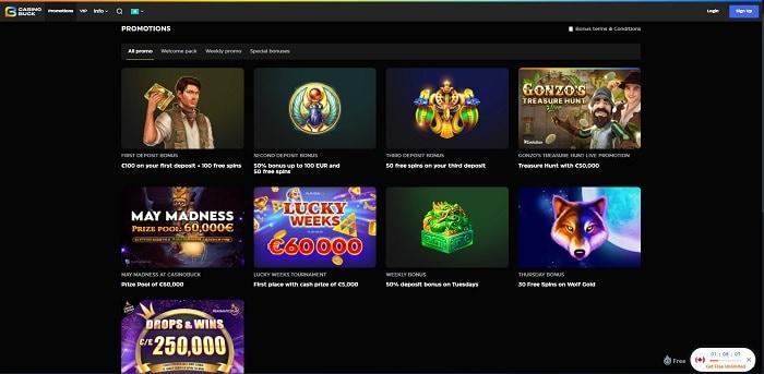 CasinoBuck Free Play