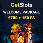 GetSlots Casino Review 150 free spins and €750 free bonus