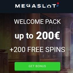 MEGASLOT Casino bonus banner