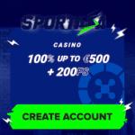 Sportaza Casino [register & login] 200 free spins bonus code