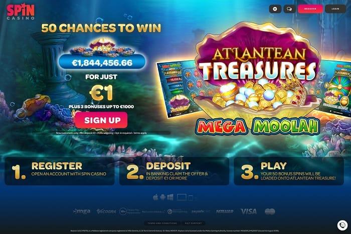 bonus spins on Atlantean Treasures